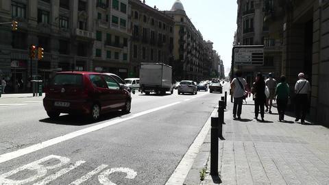 Barcelona Via Layetana 03 Stock Video Footage