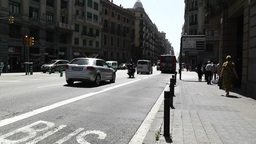 Barcelona Via Layetana 03 Stock Video Footage