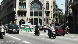 Barcelona Via Layetana 05 Stock Video Footage