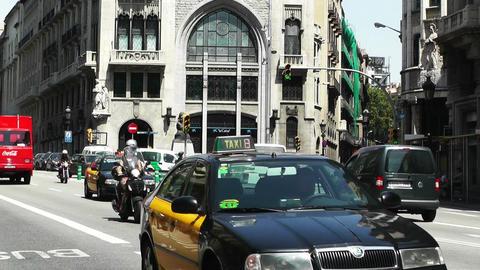 Barcelona Via Layetana 05 Stock Video Footage