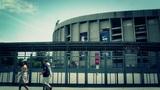 Estadi Camp Nou 08 pan stylized Footage