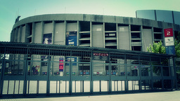 Estadi Camp Nou 08 pan stylized Footage