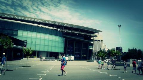 Estadi Camp Nou10 stylized Stock Video Footage