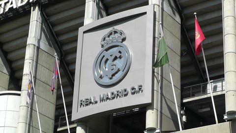 Estadio Santiago Bernabeu Madrid 04 Stock Video Footage