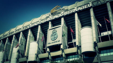 Estadio Santiago Bernabeu Madrid 16 stylized Stock Video Footage