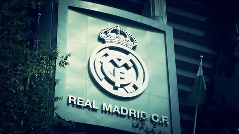 Estadio Santiago Bernabeu Madrid 18 stylized Stock Video Footage