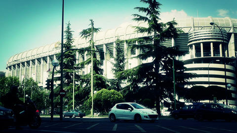 Estadio Santiago Bernabeu Madrid 20 stylized Stock Video Footage