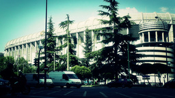 Estadio Santiago Bernabeu Madrid 20 stylized Footage