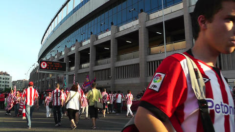 Estadio Vicente Calderon before match Copa Del Rey Final 2012 02 Footage