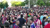 Estadio Vicente Calderon before match Copa Del Rey Final 2012 08 Barca Fans handh Footage