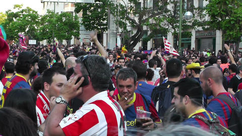 Estadio Vicente Calderon before match Copa Del Rey Final... Stock Video Footage