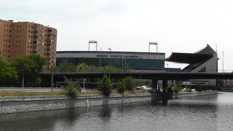 Estadio Vicente Calderon Madrid 02 Stock Video Footage
