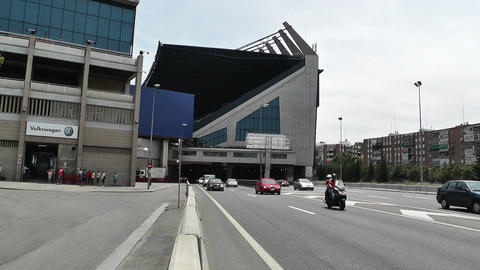 Estadio Vicente Calderon Madrid 06 Stock Video Footage
