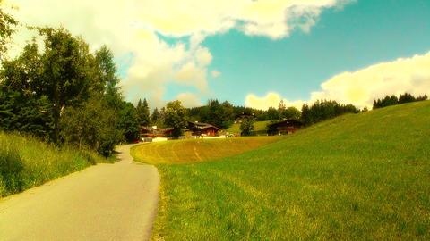 European Alps Austria 27 stylized Stock Video Footage