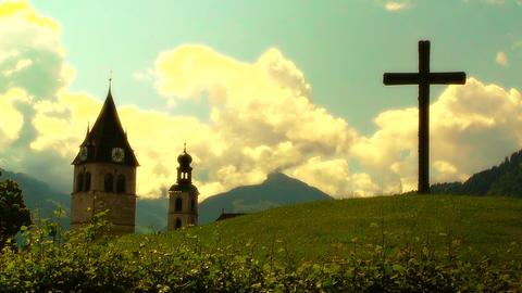 European Alps Austria 33 stylized Stock Video Footage