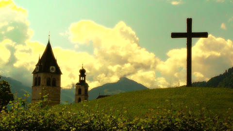 European Alps Austria 33 stylized Stock Video Footage