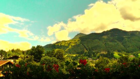 European Alps Austria 39 stylized Stock Video Footage