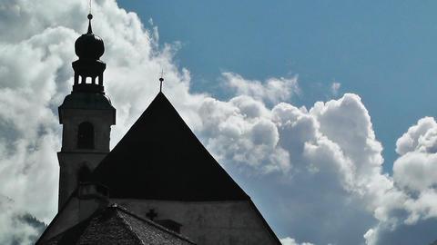 European Alps Austria Clouds Timelapse 02 Stock Video Footage