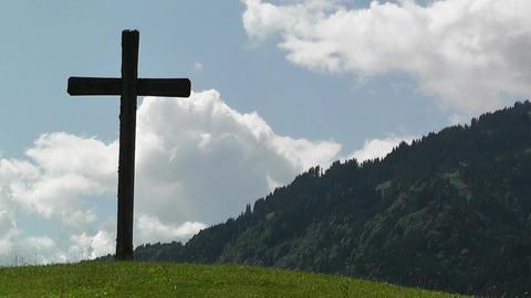 European Alps Austria Clouds Timelapse 04 Stock Video Footage