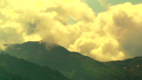 European Alps Austria Clouds Timelapse 06 stylized Stock Video Footage