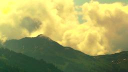European Alps Austria Clouds Timelapse 06 stylized Stock Video Footage