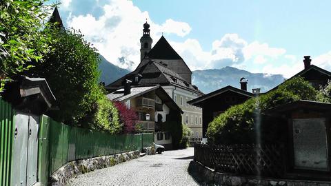 European Alps Town in Austria 01 Stock Video Footage