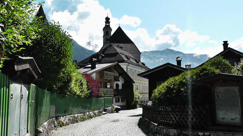 European Alps Town in Austria 01 Footage