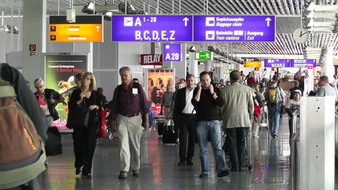 Frankfurt Airport Germany 02 Stock Video Footage