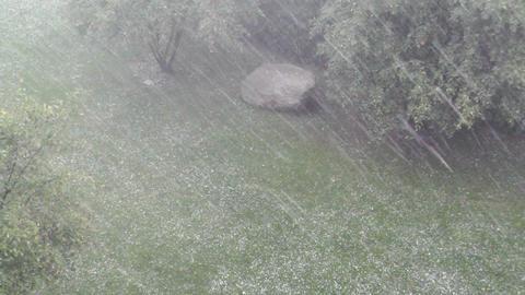 Heavy ThunderStorm 09 hailstones Stock Video Footage