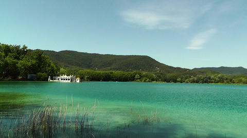Lake Banyoles in Spain Catalonia 01 Stock Video Footage
