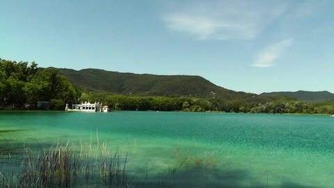 Lake Banyoles in Spain Catalonia 01 Footage