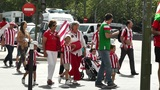 Madrid before Copa del Rey Final 2012 Athletic Bilbao Fans 02 Footage