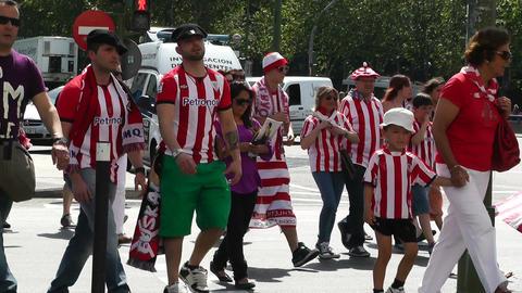 Madrid before Copa del Rey Final 2012 Athletic Bilbao Fans 02 Footage