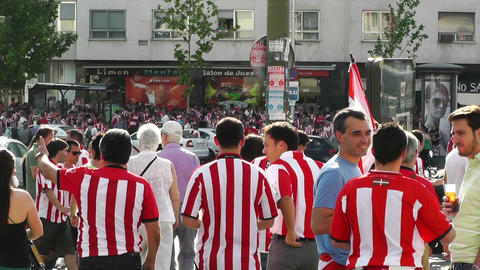 Madrid before Copa del Rey Final 2012 Athletic Bilbao Fans 06 Footage