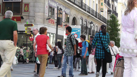 Madrid Calle De Arenal 03 Stock Video Footage
