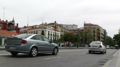 Madrid Calle De Bailen 01 Stock Video Footage