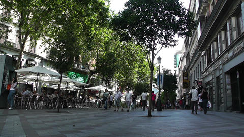 Madrid Calle De La Montera 01 Stock Video Footage
