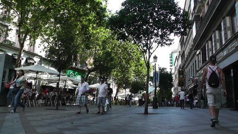 Madrid Calle De La Montera 01 Stock Video Footage