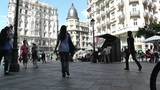 Madrid Calle De La Montera and Gran Via crossing 03 Footage