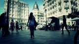 Madrid Calle De La Montera and Gran Via crossing 04 stylized 1 Footage
