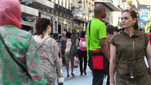 Madrid Spain Calle De Preciados 02 Stock Video Footage