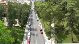 Madrid Calle De Segovia 04 highangle Stock Video Footage