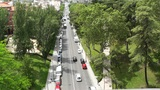Madrid Calle De Segovia 04 highangle Footage
