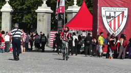Madrid Casa De Campo before Copa del Rey Final 2012 Athletic Bilbao Fans 02 Footage
