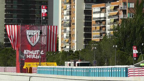 Madrid Casa De Campo before Copa del Rey Final 2012... Stock Video Footage