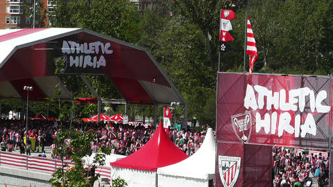 Madrid Casa De Campo before Copa del Rey Final 2012 Athletic Bilbao Fans 08 Footage