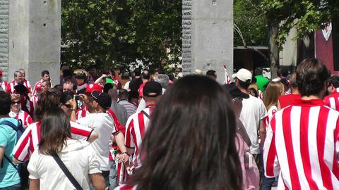Madrid Casa De Campo before Copa del Rey Final 2012 Athletic Bilbao Fans 10 Footage