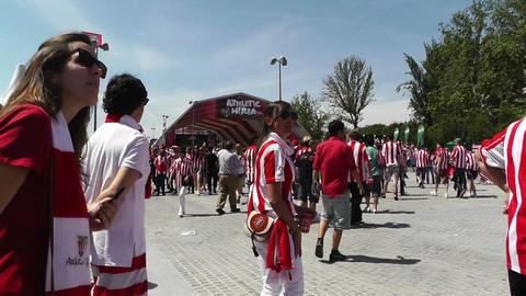 Madrid Casa De Campo before Copa del Rey Final 201 Stock Video Footage