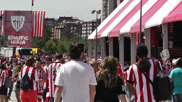 Madrid Casa De Campo before Copa del Rey Final 2012 Athletic Bilbao Fans 16 Footage