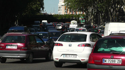 Madrid Cuesta De San Vicente 02 traffic Stock Video Footage